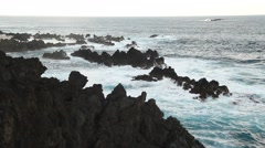 Sea rocks and waves, ocean, sea, stones - stock footage