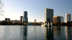 Lake Eola Park in Orlando Stock Footage