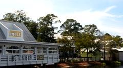 BAYTOWNE WHARF, FL – JANUARY 22, 2016: Beautiful village near Destin. The Stock Footage