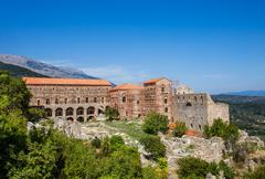 Byzantine city of Mystras, Peloponnes, Greece - stock photo