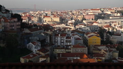 Lisbon europian city, Portugal, monuments, old streets Stock Footage
