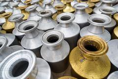Metal containers in Kathmandu, Nepal - stock photo