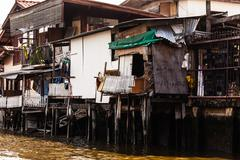 Asian slum Stock Photos
