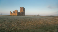 Knowlton Church Frosty Night / Morning Time Lapse Stock Footage