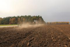 Plowed for crop land Stock Photos