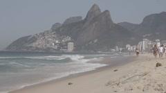 Leblon beach, Rio de Janeiro, Brazil. Stock Footage