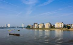 The river Thames in Greenwich, London - stock photo