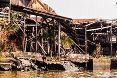 Dilapidated slums - stock photo