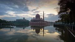 Timelapse Masjid Putra Stock Footage