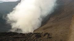 Smoke from Mount Merapi Bromo Surabaya Indonesia. Stock Footage
