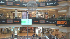Walking people in the newly opened shopping mall center Arkistovideo