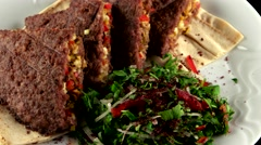 Stock Video Footage of Minced grilled meat stuffed with cheese, loop