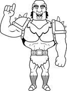 Cartoon Orc Talking - stock illustration