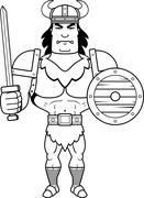 Stock Illustration of Cartoon Barbarian Battle