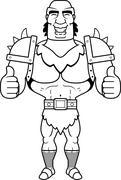 Cartoon Orc Thumbs Up - stock illustration