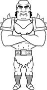 Cartoon Orc Arms Crossed Stock Illustration