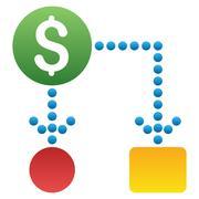 Cash Flow Scheme Gradient Vector Icon - stock illustration