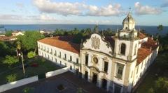 Sao Bento Monastery in Olinda, Pernambuco, Brazil Stock Footage