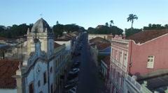 Narrow street in Olinda, Pernambuco, Brazil Stock Footage