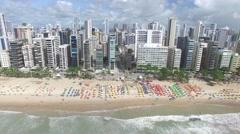 Boa Viagem beach in Recife, state of Pernambuco, Brazil Stock Footage