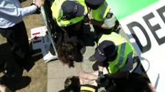 Police arresting Protestors on Parliament hill Protesting Abortion Demonstrators Stock Footage