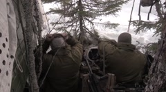 NORWAY, MARCH 2016, Nato Soldiers In Disposition Winter Area Stock Footage