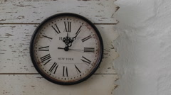 How time flies slide time lapse  three wall travel clocks different time zones - stock footage