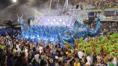 Boat Rocking in  Float Carnival 2016 Stock Footage