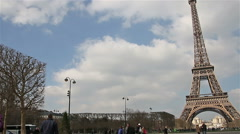 Paris - France, March 22, 2016: Eiffel Tower, Paris, France, Europe. Stock Footage