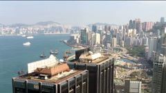 Hong Kong Island Timeline traffic video from the top building Stock Footage