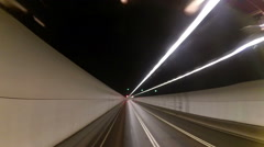 Timelapse tunnel road in Hong-Kong city with little traffic - stock footage