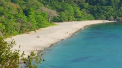 beautiful landscape with secluded beach - stock footage
