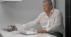 Busy Businessman Working in Office Stock Footage