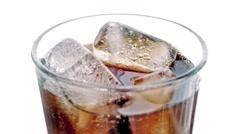 Coke Poured Into Glass Closeup - stock footage