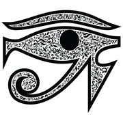 Evil eye Egyptian symbol - stock illustration