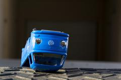 PRAGUE, CZECH REPUBLIC - MARCH 23: Illustrative photo of Volkswagen toy car f Stock Photos