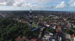Aerial View of Lighthouse of Olinda, Brazil Stock Footage