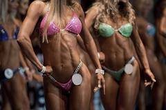 Stock Photo of Fitness bikini contest.