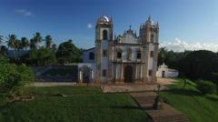 Aerial View of Igreja do Carmo, Olinda, Pernambuco, Brazil Stock Footage