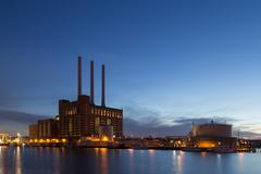 Svanemolle Power Plant in Copenhagen, Denmark - stock photo