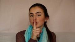Women silence  - stock footage