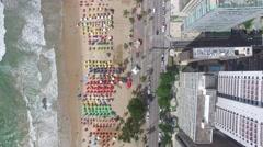 Top View of Boa Viagem Beach, Recife, Pernambuco, Brazil Stock Footage