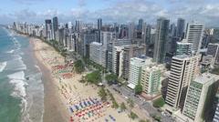 Aerial View of Boa Viagem Beach, Recife, Pernambuco, Brazil Stock Footage