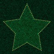 Green Star jeans Stock Illustration