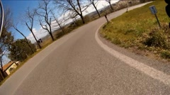 Chianti Ciclocross on board camera - stock footage