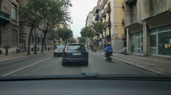 Driving in busy traffic on Via Roma in Palermo, Sicily. Stock Footage