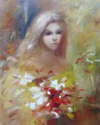 Lovely woman handmade painting Piirros