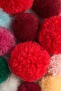 Colour Pom-poms - stock photo