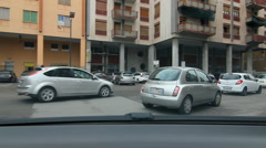 Driving on Via Isidoro Carini in Palermo, Sicily. Stock Footage