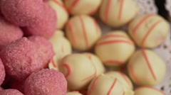 Wide range of delicious multicolor candies.Slow motion Stock Footage